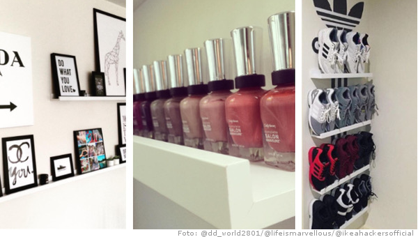 ikeahacks ein regal 100 funktionen fashionzone. Black Bedroom Furniture Sets. Home Design Ideas